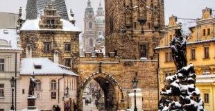 Коледа в Прага - със самолет и водач на български език!